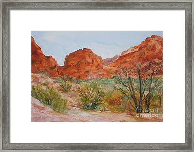 Framed Print featuring the painting Red Rock Canyon by Vicki  Housel