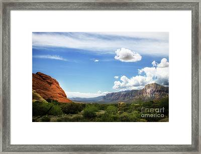 Red Rock Canyon Vintage Style Sweeping Vista Framed Print