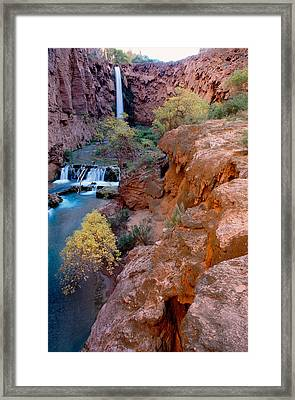 Red Rock Cliffs, Havasu Falls, Grand Framed Print by Panoramic Images