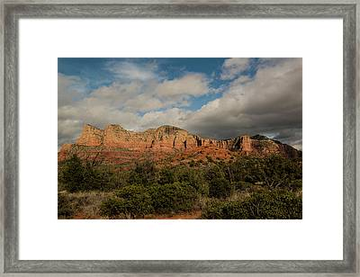Framed Print featuring the photograph Red Rock Country Sedona Arizona 3 by David Haskett