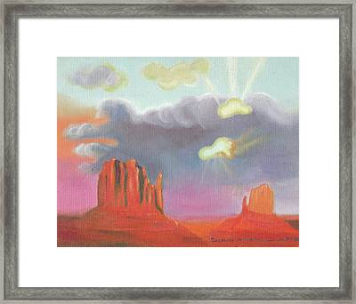 Red Rock Country Framed Print by Suzanne  Marie Leclair
