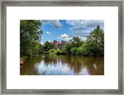 Red Rock Crossing Framed Print by Dennis Swena