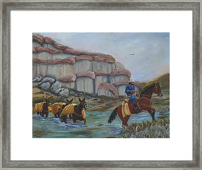 Red Rock Crossing Framed Print by Gail Daley