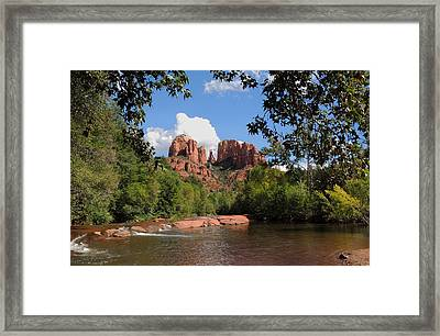 Red Rock Crossing Framed Print by Gordon Beck