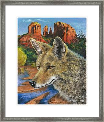 Red Rock Crossing Guard Framed Print