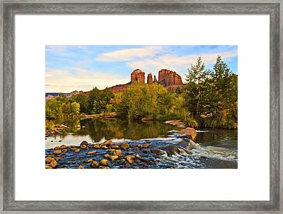 Red Rock Crossing Three Framed Print