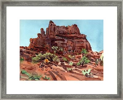 Red Rock  Framed Print by Donald Maier