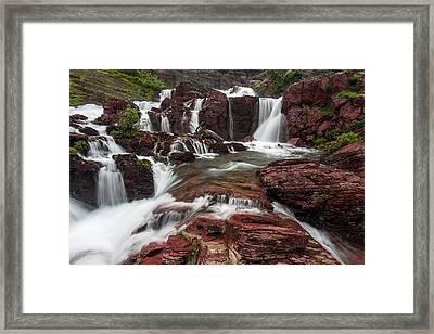 Red Rock Falls Framed Print by Mark Kiver