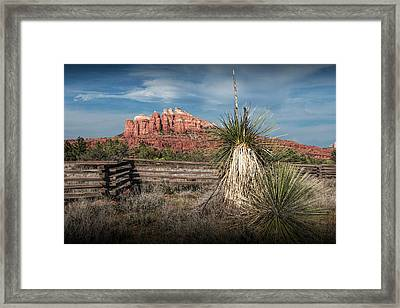 Framed Print featuring the photograph Red Rock Formation In Sedona Arizona by Randall Nyhof