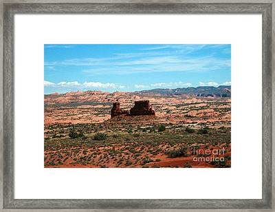 Red Rock Formations Arches National Park Framed Print