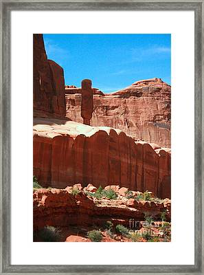 Red Rock Formations Arches National Park Near Moab Utah Usa Framed Print