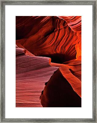 Red Rock Inferno Framed Print by Mike  Dawson