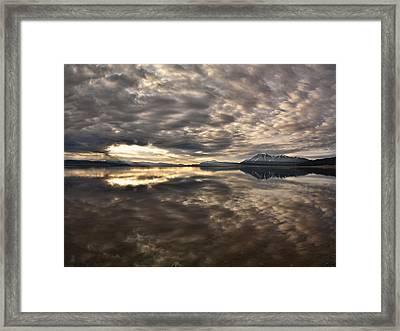 Red Rock Lake Sunrise Framed Print by Leland D Howard