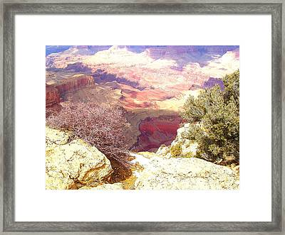 Red Rock Framed Print by Marna Edwards Flavell