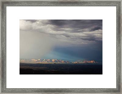 Framed Print featuring the photograph Red Rock Monsoon by Ron Chilston