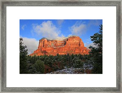 Red Rock Morning Framed Print by Gary Kaylor