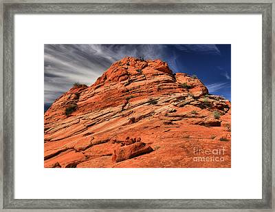 Red Rock Mountainscape Framed Print by Adam Jewell