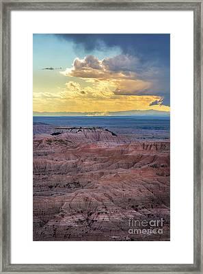 Red Rock Pinnacles Framed Print