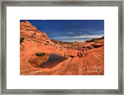 Red Rock Pool Framed Print by Adam Jewell
