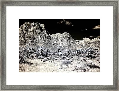 Red Rock Profile Framed Print by John Rizzuto