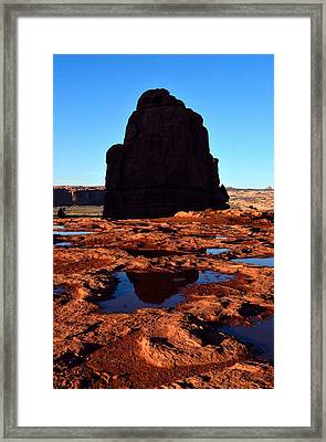 Red Rock Reflection At Sunset Framed Print
