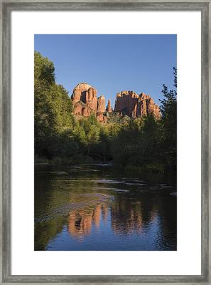 Red Rock Reflections Framed Print