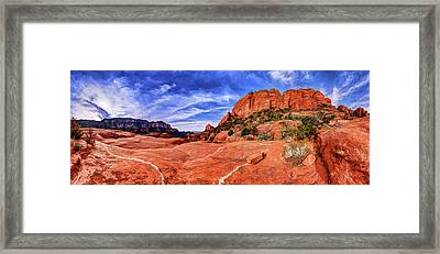 Framed Print featuring the photograph Red Rock Spirit 2 by ABeautifulSky Photography