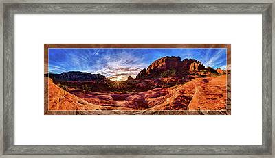Red Rock Spirit Framed Print by ABeautifulSky Photography