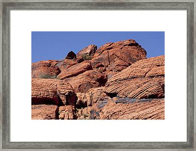 Red Rock Texture Framed Print
