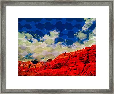Red Rock Up Close And Personal Framed Print