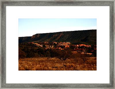 Red Rock Village Framed Print by Jennilyn Benedicto