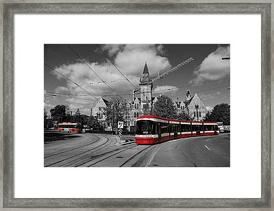 Red Rocket 43c Framed Print by Andrew Fare