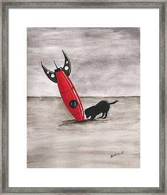 Red Rocket Framed Print by Edwin Alverio