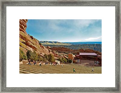 Red Rocks Amphitheater Framed Print