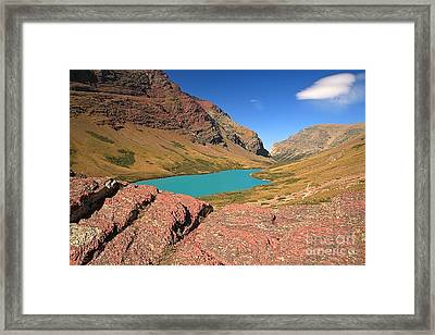 Red Rocks At Cracker Lake Framed Print