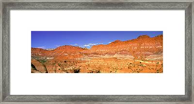 Red Rocks At Old Movie Set, Vermillion Framed Print by Panoramic Images