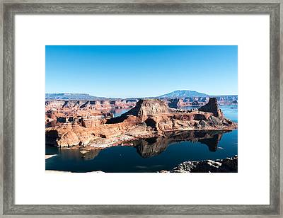 Red Rocks Drifting In Lake Powell Framed Print