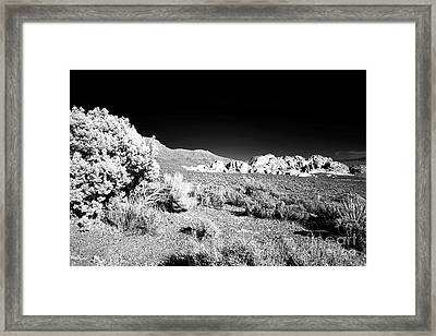 Red Rocks In The Canyon Infrared Framed Print by John Rizzuto