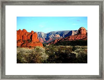 Red Rocks Framed Print by Jennilyn Benedicto
