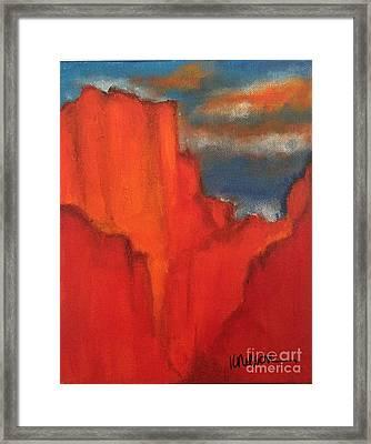 Red Rocks Framed Print by Kim Nelson