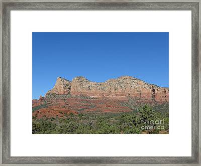 Red Rocks Majesty Framed Print