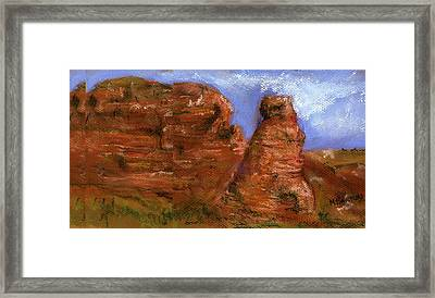 Red Rocks Framed Print by Marilyn Barton