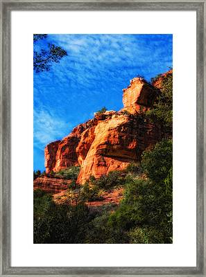 Red Rocks Number Four In Faye Canyon Framed Print