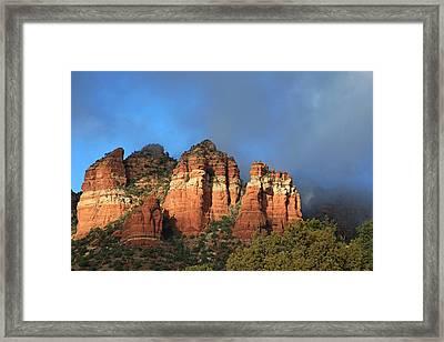 Red Rocks Of Sedona Framed Print by Donna Kennedy