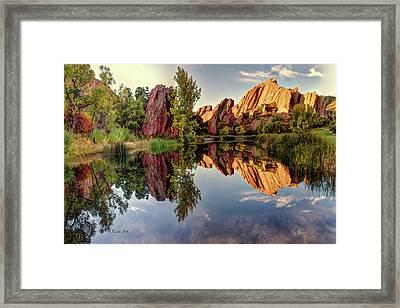 Red Rocks Reflection Framed Print