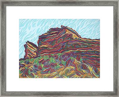 Red Rocks Framed Print by Robert SORENSEN