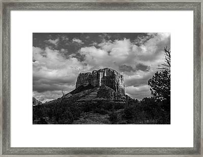 Framed Print featuring the photograph Red Rocks Sedona Bnw 1 by David Haskett
