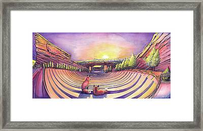 Red Rocks Sunrise Framed Print by David Sockrider
