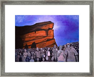 Red Rocks Framed Print by Tabetha Landt-Hastings