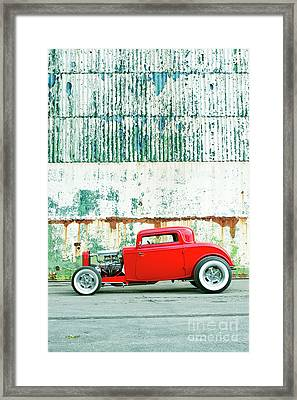 Red Rod Coupe Framed Print by Tim Gainey